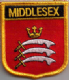 Middlesex Embroidered Flag Patch, style 07.